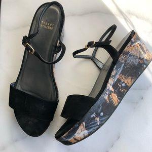 Stuart Weitzman Platform Wedge Sandals